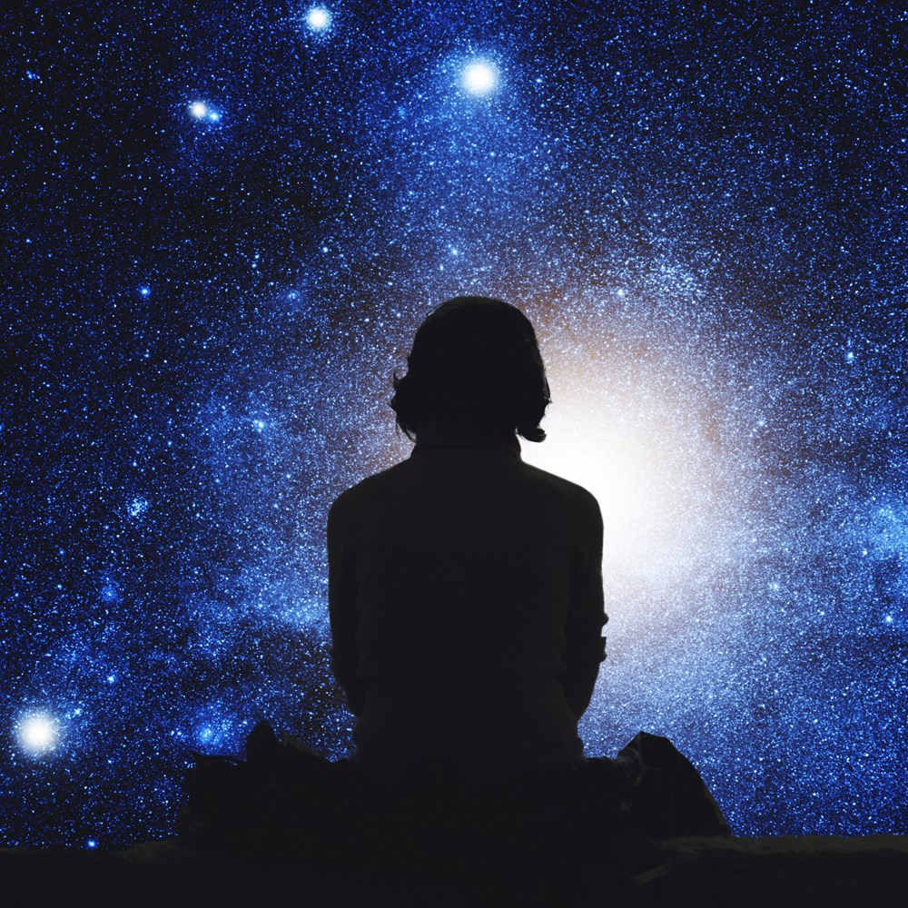 фотоэффекты где мужчина смотрит на небо красоты